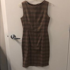 Red and creme plaid vintage looking dress